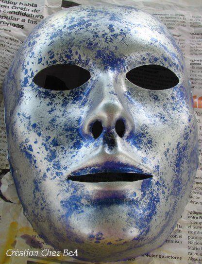 Creation masque andromede - Masque a peinture ...